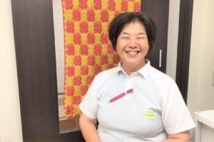 介護リーダーで計画作成担当の柳澤めぐ美さん