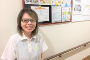 介護スタッフの榊田すみ子さん