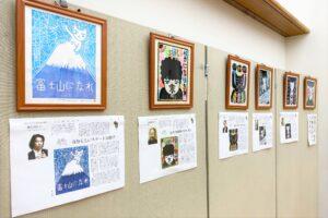 区民大学講座「大野隆司氏が語る木版画の魅力」展示